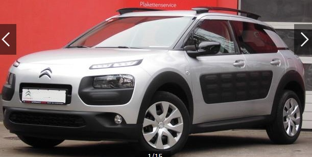CITROEN C4 CACTUS (06/2015) - GREY METALLIC - lieu: