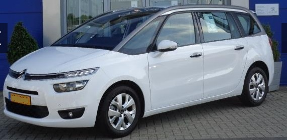 lhd CITROEN C4 GRAND PICASSO (05/2015) - WHITE - lieu: