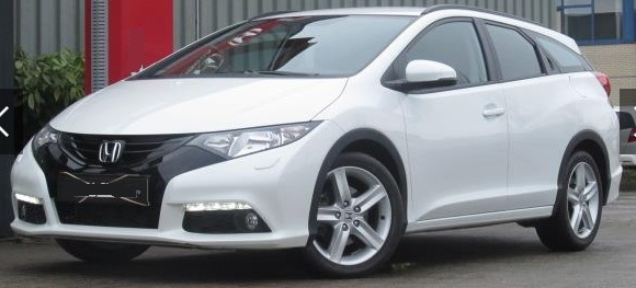 lhd HONDA CIVIC (02/2015) - WHITE - lieu:
