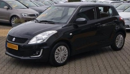 lhd SUZUKI SWIFT (07/2015) - BLACK METALLIC - lieu: