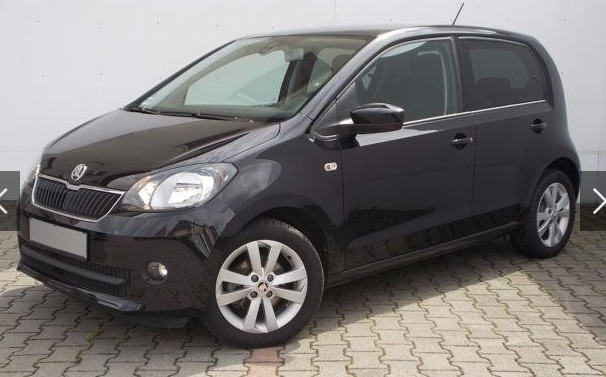 lhd SKODA CITIGO (06/2015) - BLACK METALLIC - lieu: