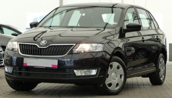 lhd SKODA RAPID (06/2015) - BLACK METALLIC - lieu: