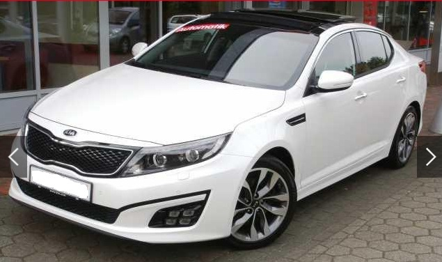 lhd KIA OPTIMA (05/2015) - WHITE METALLIC - lieu: