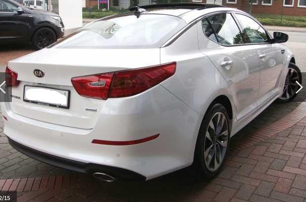 KIA OPTIMA (05/2015) - WHITE METALLIC - lieu: