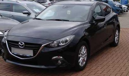 lhd MAZDA 3 (01/2015) - BLACK METALLIC - lieu: