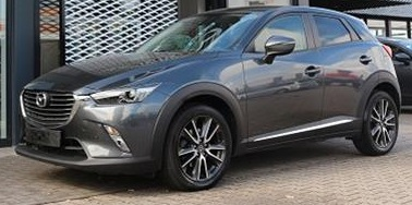 lhd MAZDA CX-3 (05/2015) - GREY METALLIC - lieu: