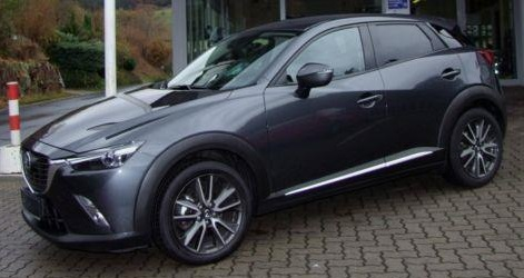 lhd MAZDA CX-3 (05/2016) - GREY METALLIC - lieu: