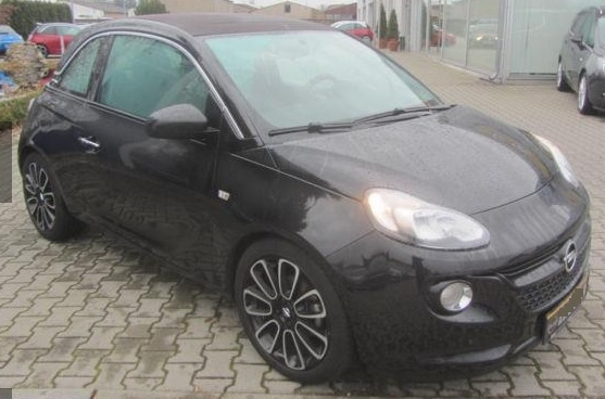 lhd OPEL ADAM (01/2016) - BLACK METALLIC - lieu:
