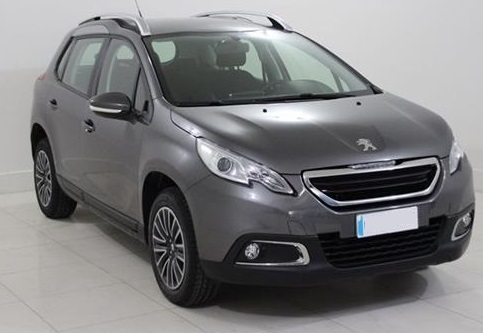 lhd PEUGEOT 2008 (04/2015) - GREY METALLIC - lieu: