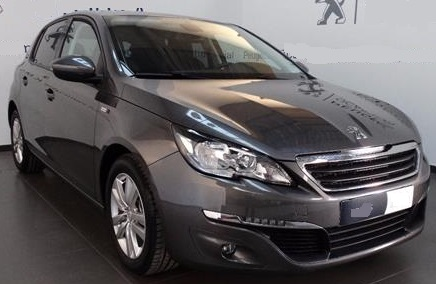 lhd PEUGEOT 308 (05/2016) - GREY METALLIC - lieu: