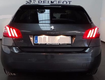 PEUGEOT 308 (05/2016) - GREY METALLIC - lieu:
