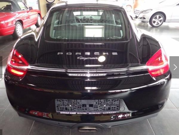 Left hand drive PORSCHE CAYMAN 2.7 Black Edition/20/PDLS