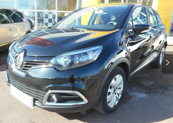 lhd RENAULT CAPTURE (02/2015) - BLACK METALLIC - lieu: