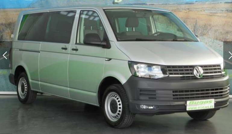 VOLKSWAGEN TRANSPORTER 2.0 TDI 102 CV KOMBI 9 SEATS SPANISH REGISTERED