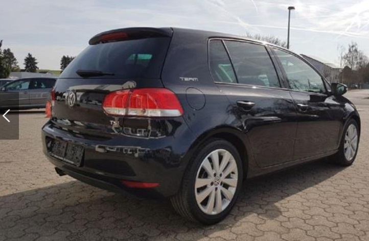 Left hand drive VOLKSWAGEN GOLF Team VI 1.4 TSI