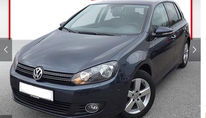 lhd VOLKSWAGEN GOLF (03/2011) - DARK BLUE METALLIC - lieu: