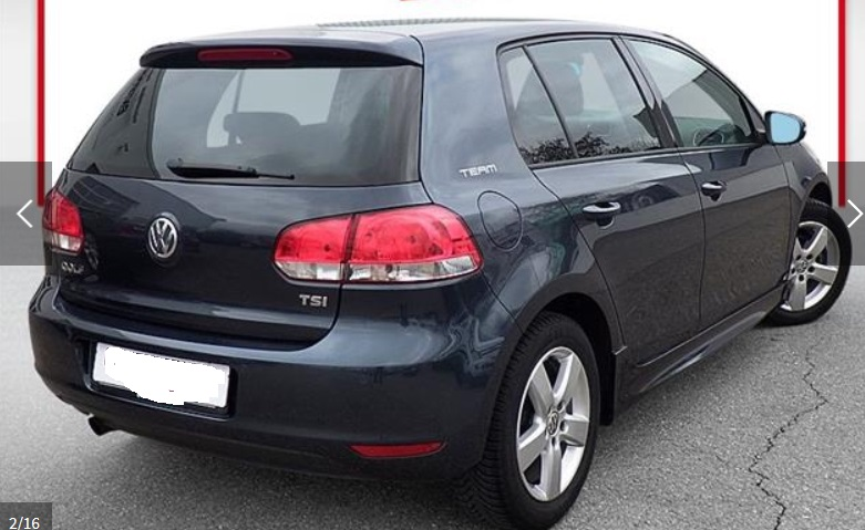 Left hand drive VOLKSWAGEN GOLF 1.2 TSI Team