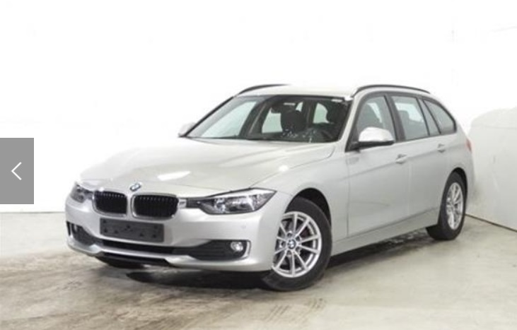 BMW 3 SERIES (12/2014) - SILVER METALLIC - lieu: