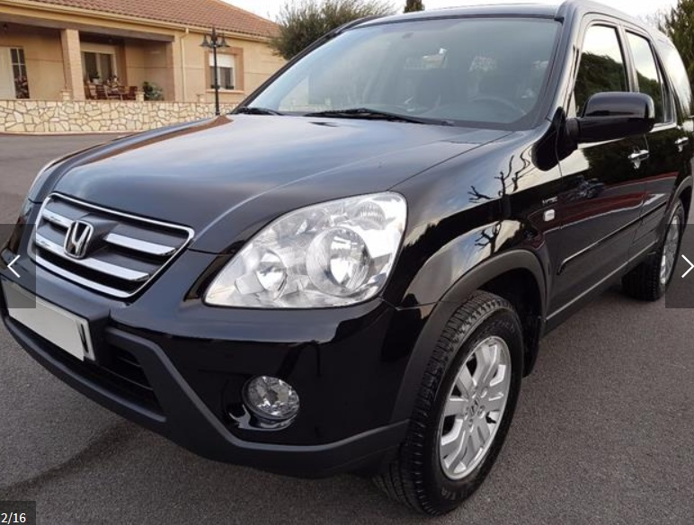 Lhd HONDA CR V (03/2006) - BLACK - lieu: