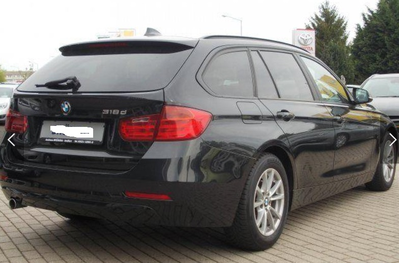 Left hand drive BMW 3 SERIES 318 D Touring