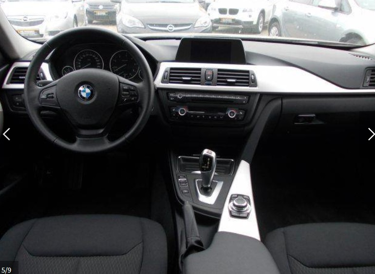 BMW 3 SERIES (01/2014) - BLACK - lieu: