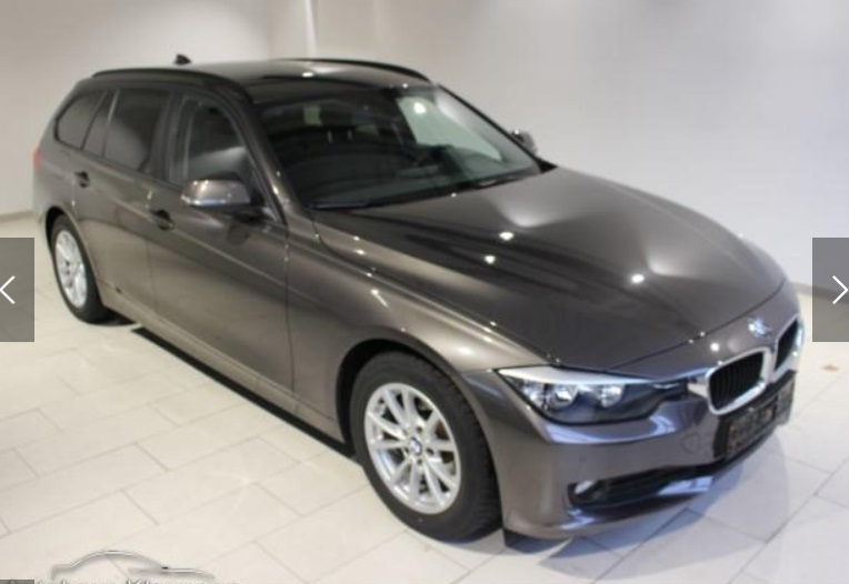lhd BMW 3 SERIES (01/2014) - GREY METALLIC - lieu:
