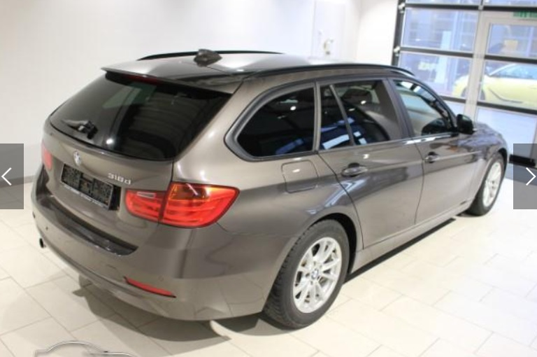 BMW 3 SERIES (01/2014) - GREY METALLIC - lieu:
