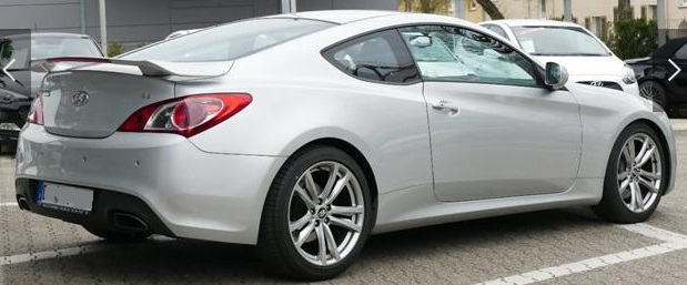 Left hand drive HYUNDAI COUPE Genesis Coupe 3.8 V6 AT