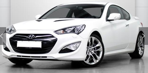 lhd HYUNDAI COUPE (02/2013) - WHITE METALLIC - lieu: