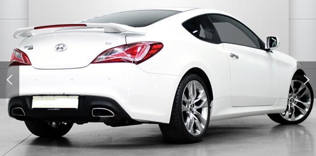 HYUNDAI COUPE (02/2013) - WHITE METALLIC - lieu: