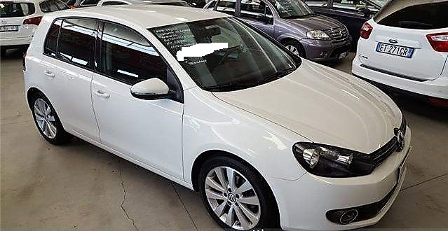 VOLKSWAGEN GOLF (08/2011) - WHITE - lieu: