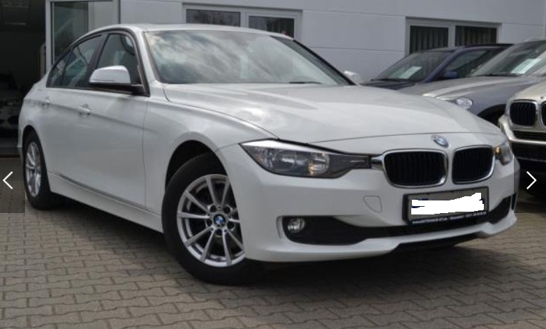 Left hand drive BMW 3 SERIES 320D EffDyn Edition