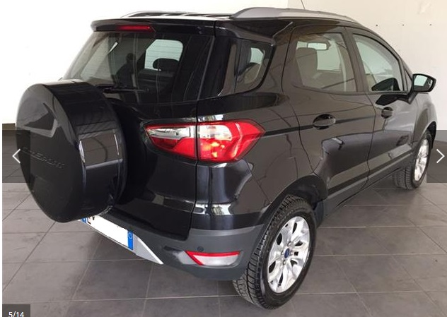 Left hand drive FORD ECOSPORT 1.5 TDCi 90 CV