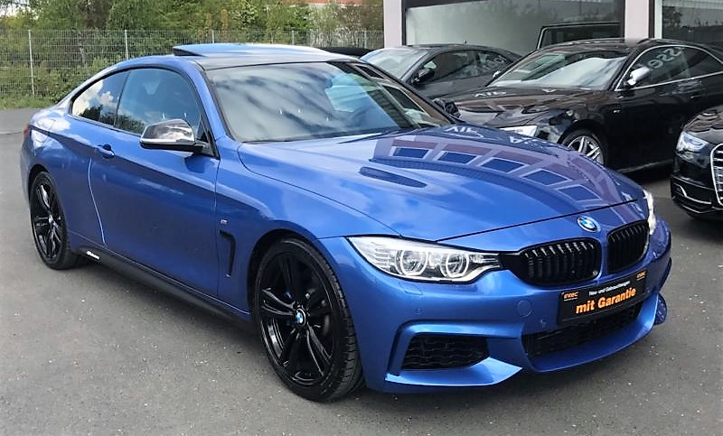 lhd BMW 4 SERIES (03/2015) - BLUE METALLIC - lieu:
