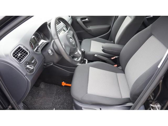 Left hand drive car VOLKSWAGEN POLO (12/2012) - black - lieu:
