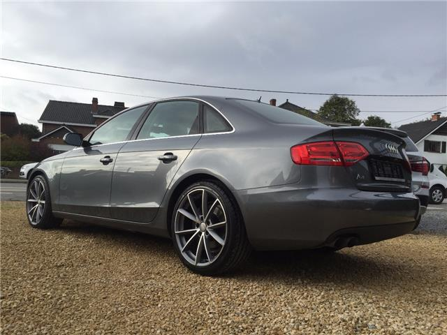 Left hand drive car AUDI A4 (08/2011) - grey - lieu: