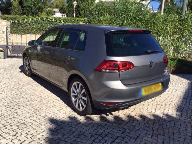 Left hand drive car VOLKSWAGEN GOLF (01/2015) - grey