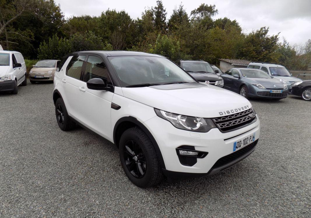 left hand drive LANDROVER DISCOVERY SPORT (04/2015) - WHITE - lieu: