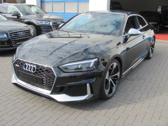 Left hand drive car AUDI RS5 (09/2017) - black - lieu: