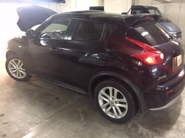 lhd car NISSAN JUKE (04/2013) - black - lieu: