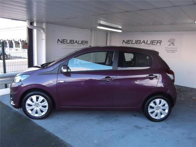 Left hand drive car PEUGEOT 108 (02/2017) - purple - lieu: