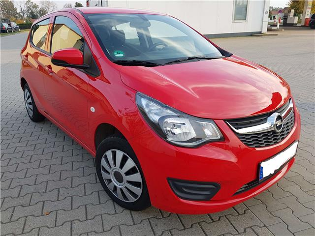 lhd car OPEL KARL (10/2015) - red - lieu: