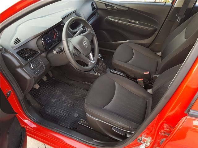 left hand drive OPEL KARL (10/2015) - red - lieu:
