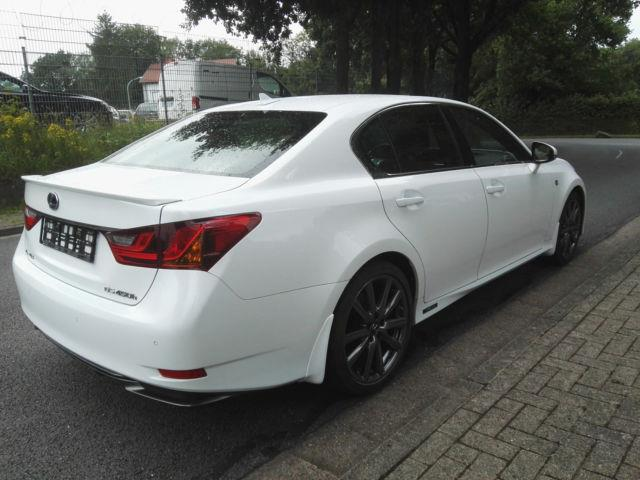 Left hand drive car LEXUS GS 450 (10/2014) - white - lieu: