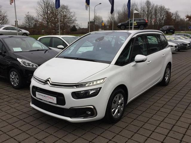 lhd CITROEN C4 GRAND PICASSO (04/2017) - white - lieu: