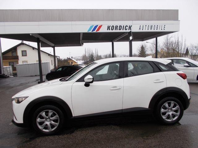 Left hand drive car MAZDA CX 3 (10/2017) - white - lieu:
