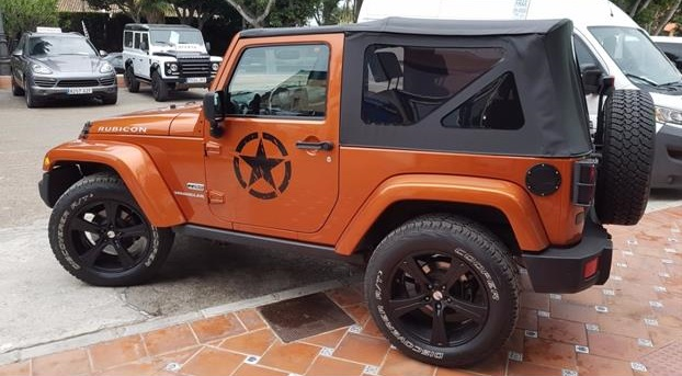 lhd JEEP WRANGLER (02/2011) - Orange - lieu: