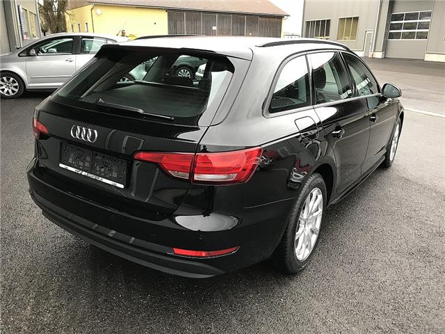 Left hand drive car AUDI A4 (03/2017) - black