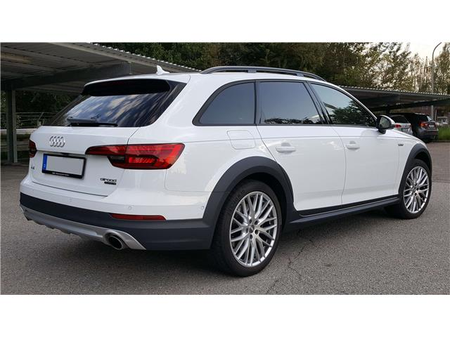 Left hand drive car AUDI A4 ALLROAD (12/2016) - white