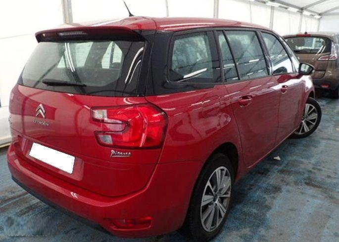 Lhd CITROEN C4 GRAND PICASSO (02/2016) - RED - lieu: